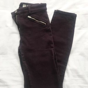High Waisted GAP Plum Skinny Jeans